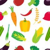 菜样式 平的套红萝卜、昆布属植物、胡椒和谷物 免版税库存照片