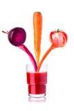 菜汁液在玻璃的 免版税库存照片