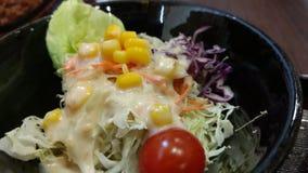 菜沙拉用奶油沙司 库存照片