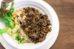 主菜炒饭用猪肉泰国调味汁 免版税图库摄影