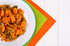 菜炖煮的食物用蘑菇 免版税库存图片