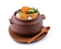 菜炖煮的食物 免版税库存图片