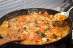 菜炖煮的食物 库存图片
