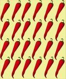 菜的包裹与辣椒的图象 免版税库存照片