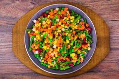 菜的墨西哥混合 蕃茄,豆,芹菜 免版税库存照片