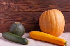 菜的秋天概念在棕色木背景的 免版税图库摄影