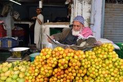 菜的街边小贩在印度 库存图片