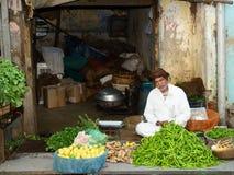 菜的街边小贩在印度 免版税图库摄影