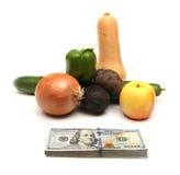 菜的价格 免版税库存图片