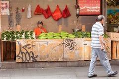 菜立场在唐人街 免版税库存照片