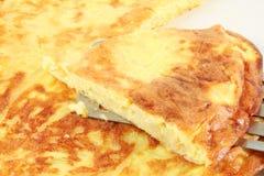 菜肉馅煎蛋饼用葱,煎蛋卷 免版税库存图片