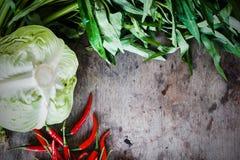 菜背景绿皮胡瓜新鲜的蕃茄 免版税库存照片