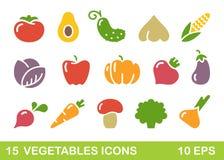 菜风格化象  背景容易的图标替换影子透明向量 免版税库存图片