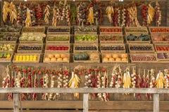 菜食物,商展2015年米兰大模型的陈列  库存照片