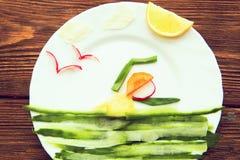 菜,在木桌上的有机产物 健康生活方式c 库存照片