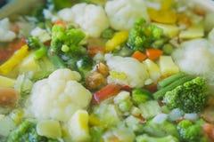 菜,硬花甘蓝,花椰菜炖煮的食物 免版税库存图片