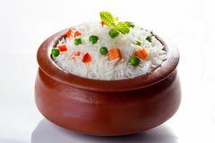 菜Pulav或肉饭 免版税库存照片