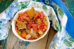 菜Stew.herbes de普罗旺斯 免版税库存照片
