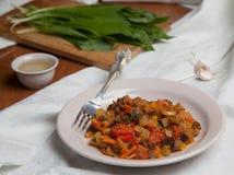 菜Stew.herbes de普罗旺斯 库存图片