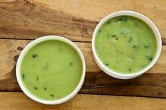 菠菜汤奶油  库存图片