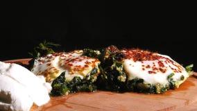 菠菜用鸡蛋 影视素材