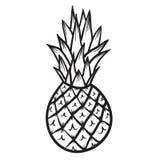 菠萝传染媒介手拉的例证 免版税库存照片