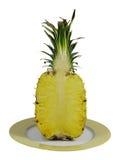 菠萝切了 免版税库存照片
