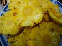 菠萝切片 库存图片