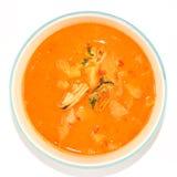 菠萝咖喱用淡菜,泰国食物 免版税库存照片