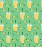 菠萝圆滑的人无缝的样式 免版税库存图片