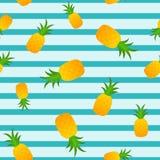 菠萝无缝的夏天样式 库存例证