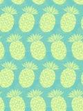 菠萝无缝的样式 库存图片