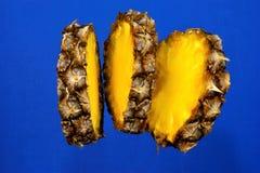 菠萝是一个热带四季不断的草本,用于烹调的一个普遍的纤巧 菠萝是一种可贵的食品,有有用 图库摄影