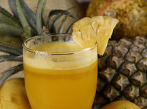 菠萝汁 库存图片