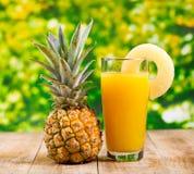 菠萝汁 图库摄影