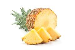 菠萝热带水果特写镜头 免版税库存图片
