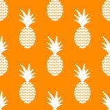 菠萝简单的vetor无缝的背景 纺织品样式 免版税库存照片