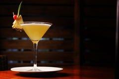 菠萝马蒂尼鸡尾酒 库存照片