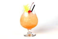 菠萝鸡尾酒用樱桃 库存照片