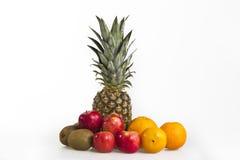 菠萝,被隔绝的热带水果 免版税图库摄影