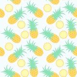菠萝 无缝几何的模式 免版税库存图片