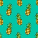 菠萝 模式无缝的向量 皇族释放例证