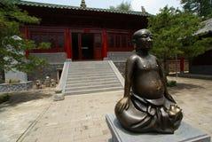 菩萨中国人雕象 免版税库存照片
