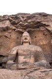 菩萨使datong巨型石yuangang陷下 免版税库存照片