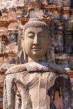 菩萨古老雕象佛教砖寺庙废墟的  免版税图库摄影