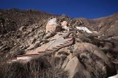 绘菩萨哲蚌寺的岩石 库存照片