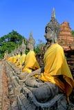 菩萨图象在Ayudhaya,泰国 免版税库存图片