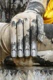 菩萨图象的手在阿尤特拉利夫雷斯历史公园 免版税图库摄影