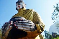 菩萨图象雕象在Tai Ta Ya修道院的缅甸样式 库存照片