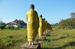 菩萨图象雕象在Tai Ta Ya修道院的缅甸样式 库存图片